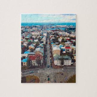 Reykjavik Aerial View Jigsaw Puzzle