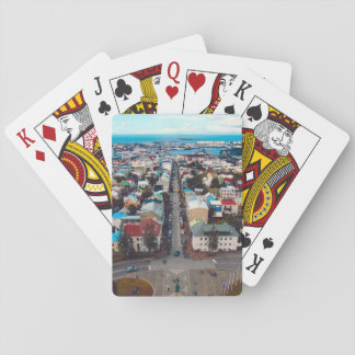 Reykjavik Aerial View Playing Cards