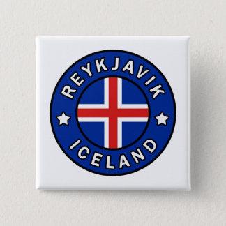Reykjavik Iceland 15 Cm Square Badge