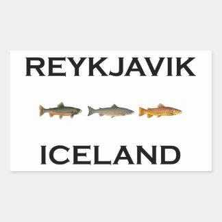 Reykjavik Iceland Fly Fishing Rectangular Sticker