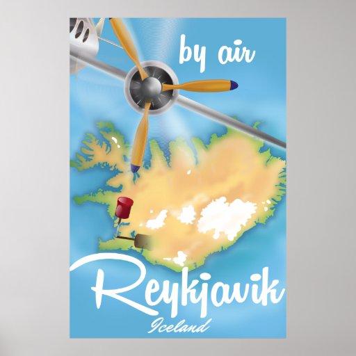 Reykjavik, Iceland holiday travel poster