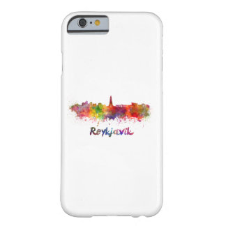 Reykjavik skyline in watercolor barely there iPhone 6 case
