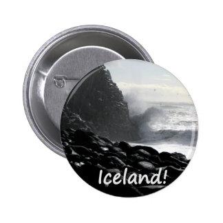 Reynisfjara Beach Iceland 6 Cm Round Badge