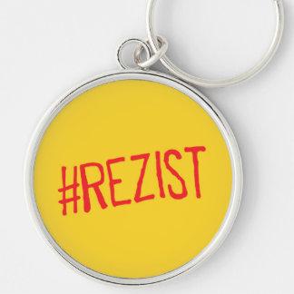 rezist romania political slogan resist protest sym key ring