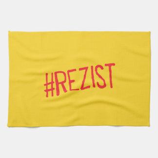 rezist romania political slogan resist protest sym tea towel