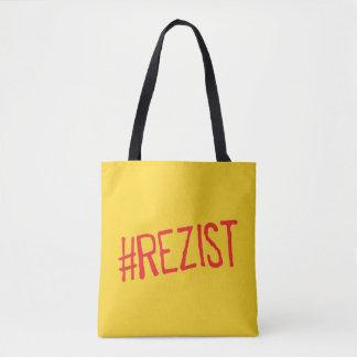 rezist romania political slogan resist protest sym tote bag