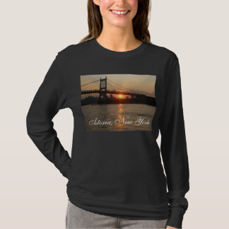 """RFK Bridge at Sunset"" Astoria, NY Women's T-shirt"