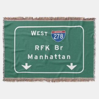 RFK Bridge I-278 Interstate NYC New York City NY Throw Blanket