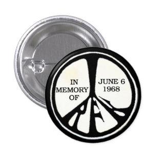 RFK Memorial Peace Pinback 3 Cm Round Badge