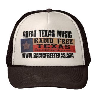 rftlogo, www.radiofreetexas.org, GREAT TEXAS MUSIC Cap