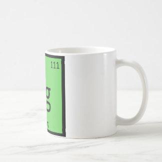 Rg - Rugby Sports Chemistry Periodic Table Symbol Basic White Mug