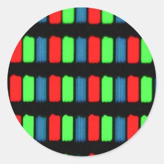RGB LCD display micrograph Classic Round Sticker