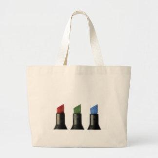 RGB Markers Cloth Shopping Bat Large Tote Bag