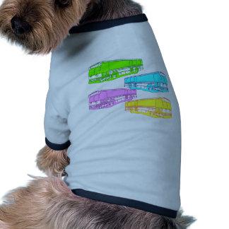 RGB Pop Buses Doggie Tee Shirt