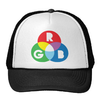 RGB Red Green Blue colur mixing Hat