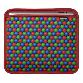 RGB Sphere Pattern Design iPad Sleeve