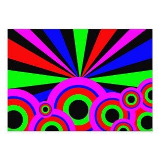 RGB Wallpaper Personalized Invite