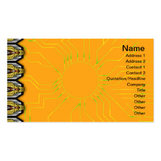 RGBY Waves Big Business Card Template