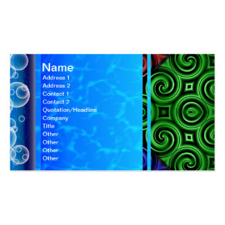 RGBY Waves Big Double-Sided Standard Business Cards (Pack Of 100)