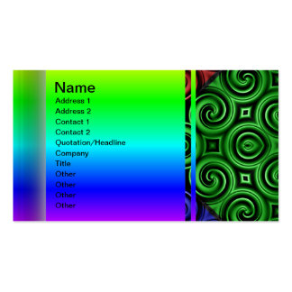 RGBY Waves Big Business Cards