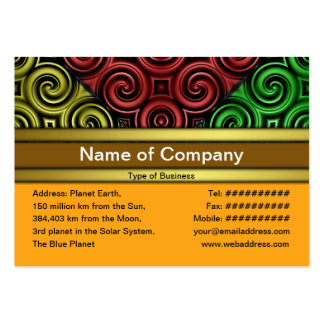 RGBY Waves Big Business Card Templates