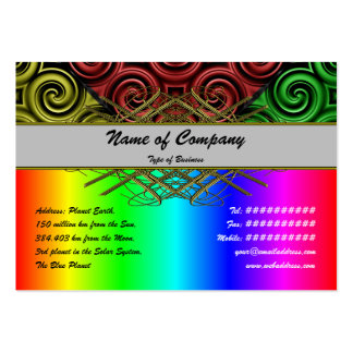 RGBY Waves Big Pack Of Chubby Business Cards