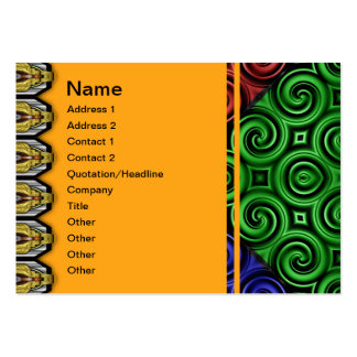 RGBY Waves Big Large Business Cards (Pack Of 100)