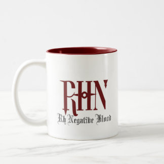 Rh Negative Cup Two-Tone Mug