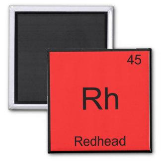 Rh - Redhead Funny Chemistry Element Symbol Tee Refrigerator Magnet