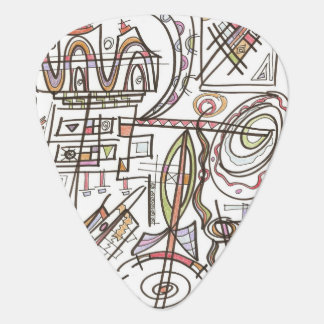 Rhapsody-Abstract Art Geometric Guitar Pick
