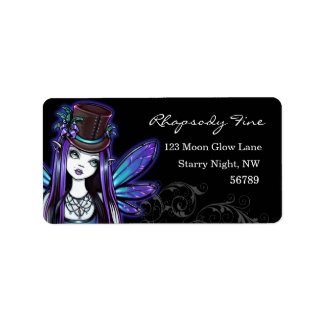 """Rhapsody"" Gothic Absinthe Fairy Art Labels"