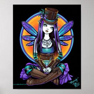 """Rhapsody"" Gothic Absinthe Fairy Art Poster"