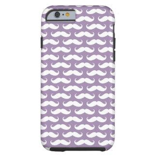 Rhapsody Purple Mustache Patterned iPhone 6 case Tough iPhone 6 Case