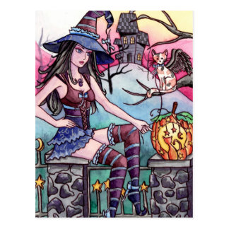 Rhea - Haunted House Witch Postcard