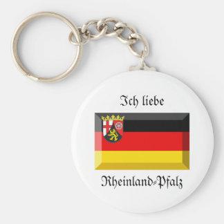 Rheinland-Pfalz Flag Gem Keychain