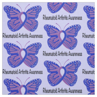 Rheumatoid Arthritis Butterfly Awareness Ribbon Fabric