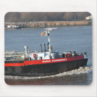 Rhine barges; Bow wave Mouse Pad