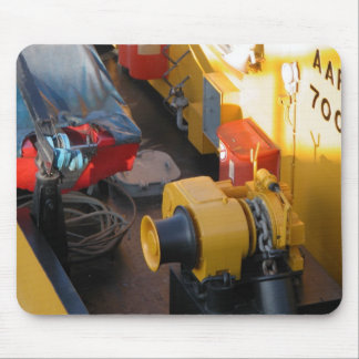 Rhine barges; equipment on a pusher tug mouse pad