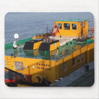 Rhine barges; Swiss pusher tug Mouse Pad