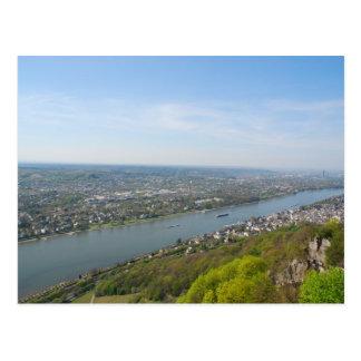 Rhine River valley by Bonn, Germany Postcard