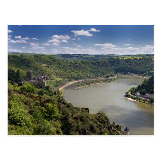 Rhine Valley - Castle Katz postcard