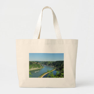 Rhine Valley to the Loreley Large Tote Bag