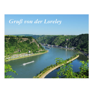 Rhine Valley to the Loreley Postcard