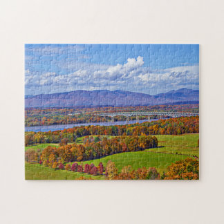 Rhinecliff Bridge in the fall Jigsaw Puzzle