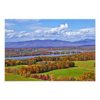 Rhinecliff Bridge in the fall Photo Print