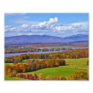 Rhinecliff Bridge in the fall Photograph