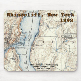 Rhinecliff Historic Map mousepad