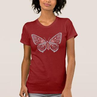 Rhinestone Butterfly Appliqued Tshirt