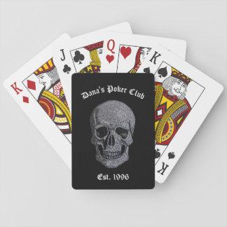Rhinestone Skull Playing Cards