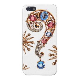 Rhinestones Question Mark Costume Jewelry Diamonds Cover For iPhone 5/5S